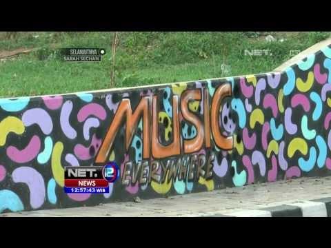 Underpass Disulap Menjadi Taman dan Seni Graffiti Hiasi Zona Kece di Karawang - NET12