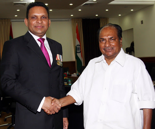 DEFENCE MINISTER OF MALDIVES VISITS INDIA by Chindits