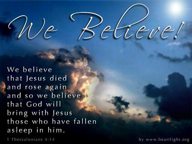 Inspirational illustration of 1 Thessalonians 4:14