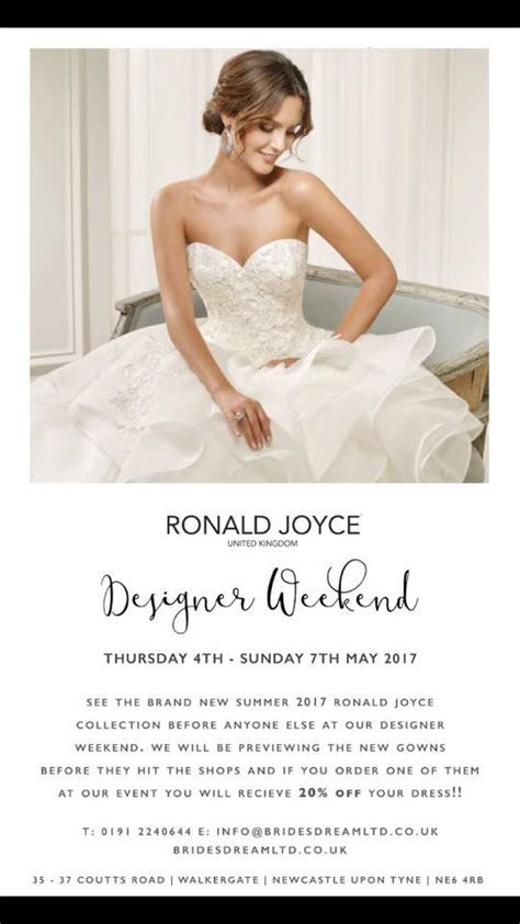 Ronald Joyce Designer Weekend at Brides Dream Newcastle