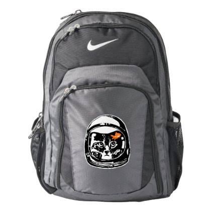 Space cat and the goldfish nike backpack