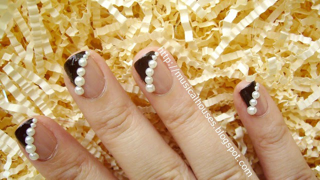 fall winter nail art pearls rimmel beige style megan miller ganache 3