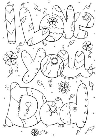 Dibujo De Te Quiero Papá Para Colorear Dibujos Para Colorear