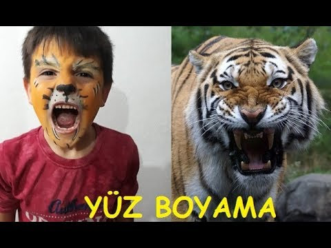 Yüz Boyama Kaplan Makyajı смотреть онлайн на Hahlife