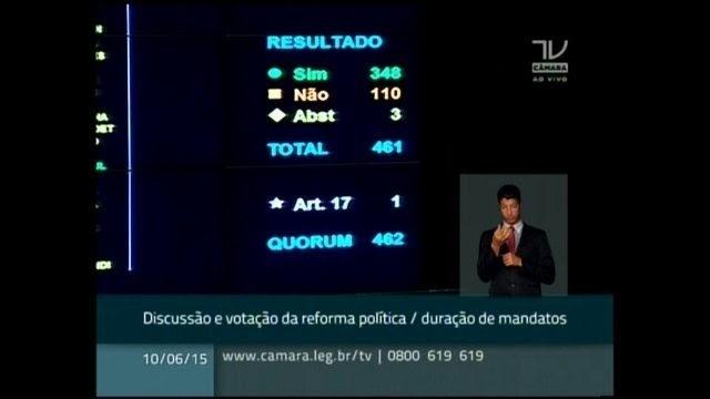 Câmara aprova fixar mandato de todos os cargos eletivos em 5 anos