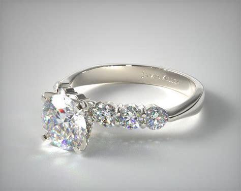 Common Prong Six Round Diamond Engagement Ring   Platinum