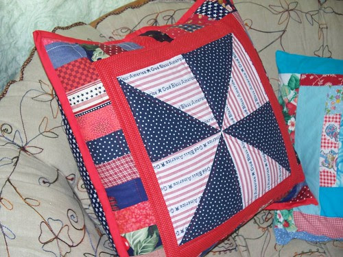 patriotic pillow stuffed