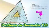 Problema de Geometría 123 (ESL): Triangulo, Cevianas, Trisección de los lados, 1/16, Área. Nivel: Educación Secundaria, Pre-Universitaria, Bachillerato.