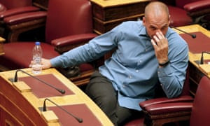 Former Greek Finance Minister Yanis Varoufakis attends a parliamentary session in Athens, Greece July 15, 2015.
