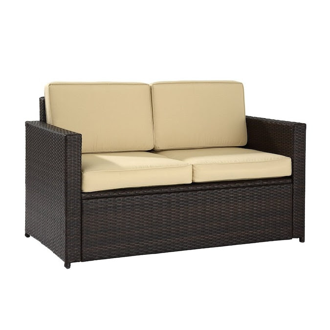 Crosley Furniture Palm Harbor Solid Brown Wicker Loveseat ...