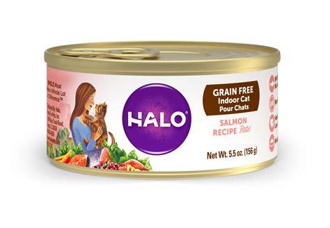halo holistic wet cat food  indoor cats grain