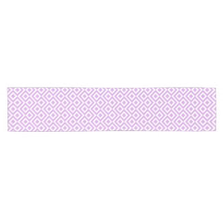 Lavender and White Meander Table Runner Short Table Runner