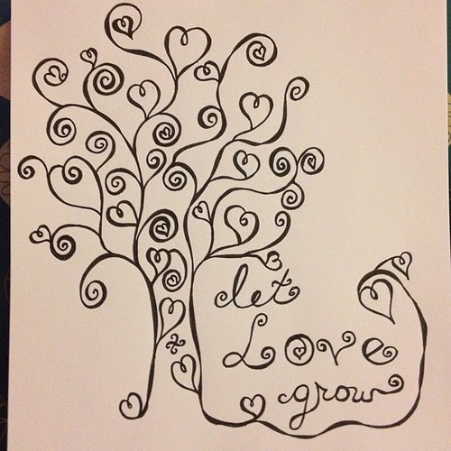Let love grow... #aedm2012 #doodle #art #micron