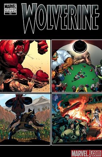 WOLVERINE #73 Second Printing cover by Adam Kubert