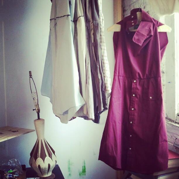 #diy #thirdhand #buttonup #dress