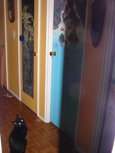 Merlin at Door