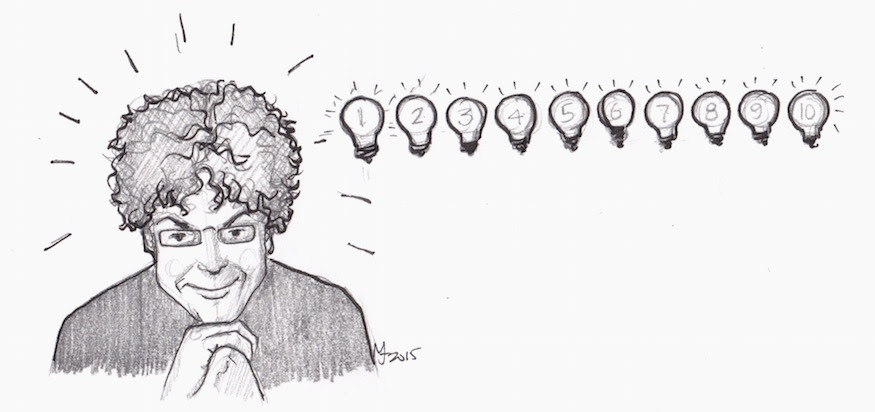 10 ideas, James Altucher, sketch portrait