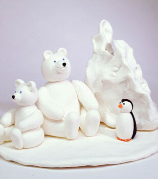 Whimsical Cold Weather Friends free clay project