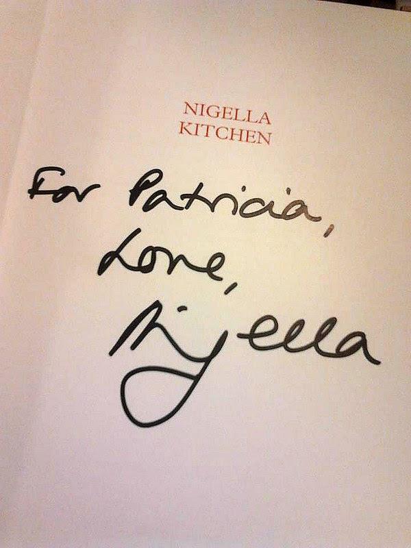 Nigella's autograph / Autógrafo Nigella