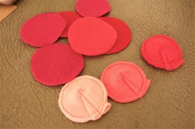 sewn flowers