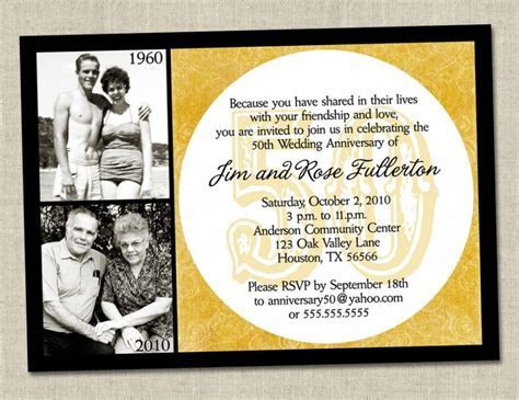 funny wording for 50th wedding anniversary invitations