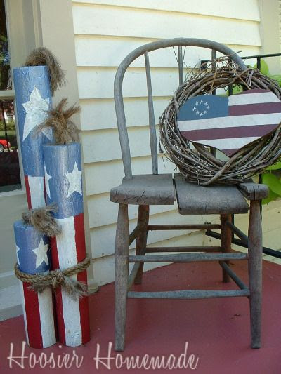 Front Porch Decorating for the 4th of July