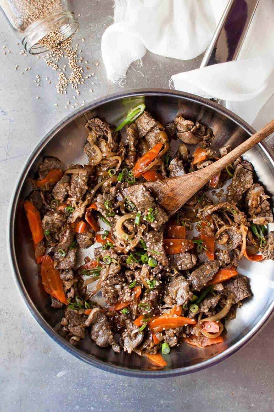 Korean Beef Bowl (Bulgogi - Korean BBQ Beef) | RecipeTin Eats