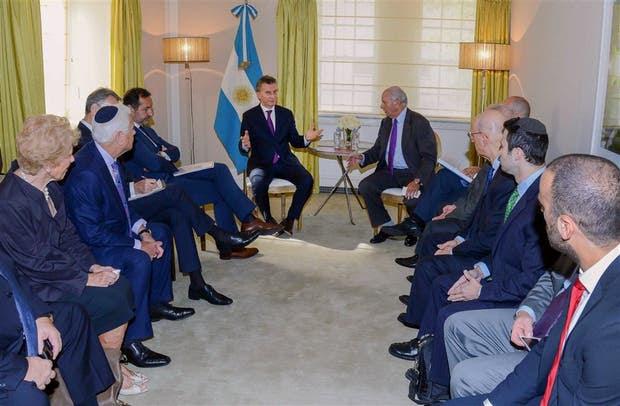 En su último día en Nueva York, Macri se reunió ayer con representantes mundiales de la comunidad judía