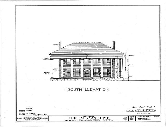 HABS ALA,39-FLO.V,3- (sheet 6 of 18) - Forks of Cypress, Savannah Road (Jackson Road), Florence, Lauderdale County, AL