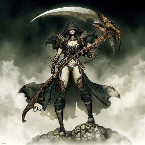 lady grim reaper  genzoman  deviantart
