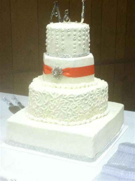 Square Petal Hexagon And Round Wedding Cake Bling Band