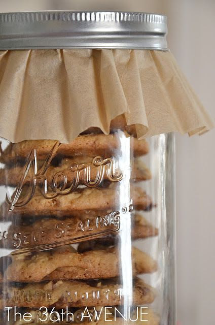 ball jar + coffee filter = pretty package