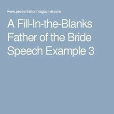 fill   blanks father   bride speech