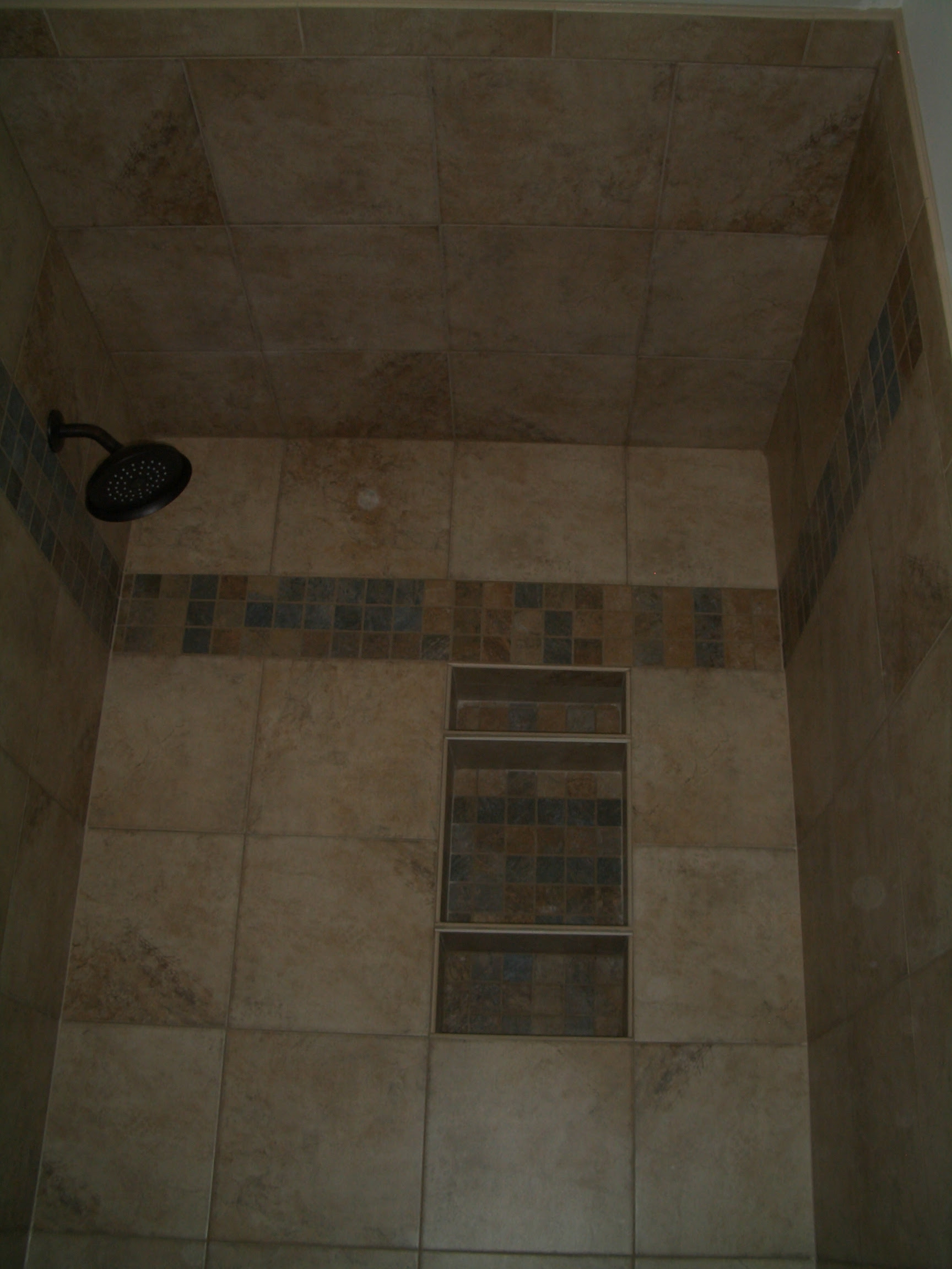 Tile Shower Ceiling