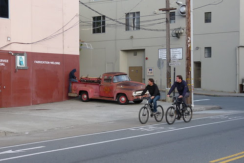 Old Truck, Two Bikes
