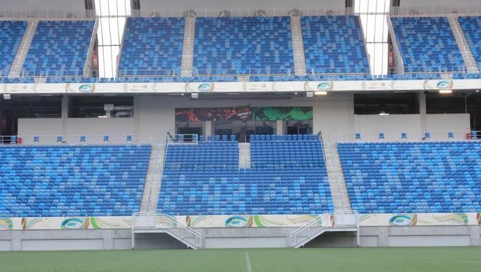 Arena das Dunas - nova decoração (Foto: Carlos Arthur da Cruz/GloboEsporte.com)