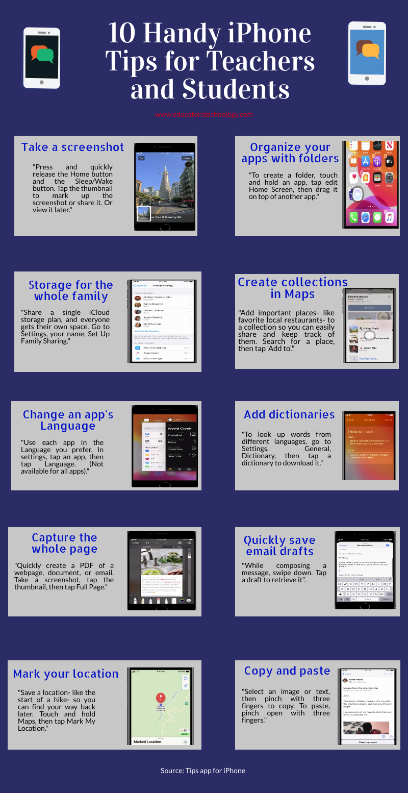 10 Handy iPhone Tips for Teachers and Students