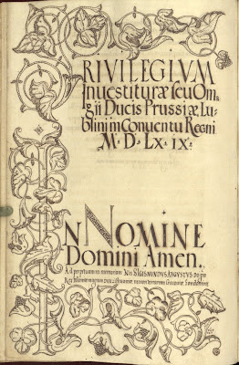 16th century Polish calligraphy