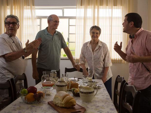 Bastidores das filmagens do filme 'O escaravelho do diabo', baseado no livro de Lúcia Machado de Almeida  (Foto: Aline Arruda/Divulgação)