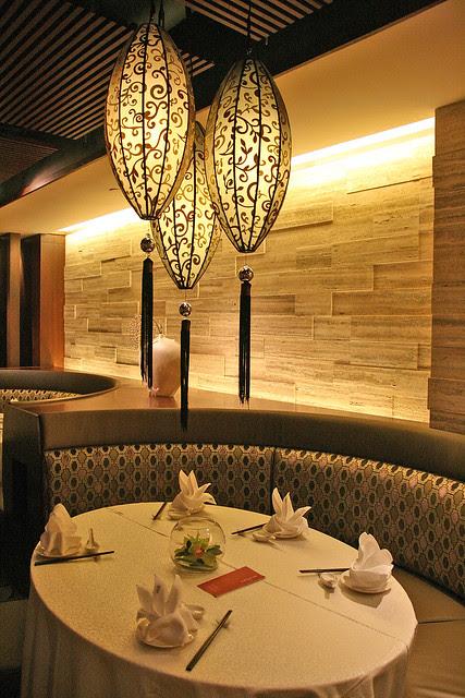 Si Chuan Dou Hua has very elegant dining settings