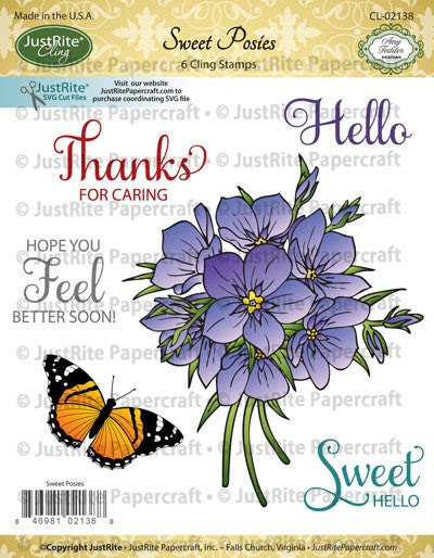 Sweet Posies Cling Stamps