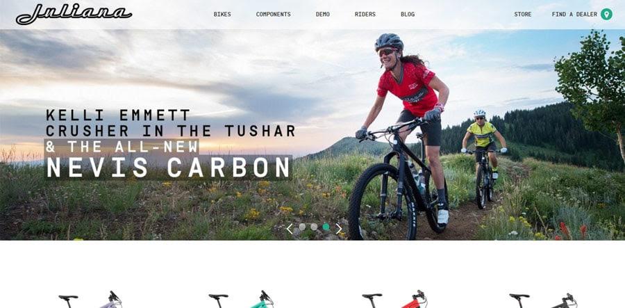 Juliana modern sports related website designs