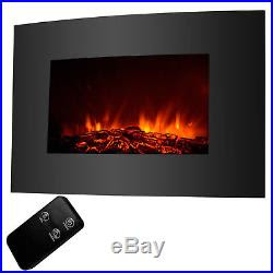 Xl Large 3322 1500w Electric Fireplace Wall Mount Heater Remote