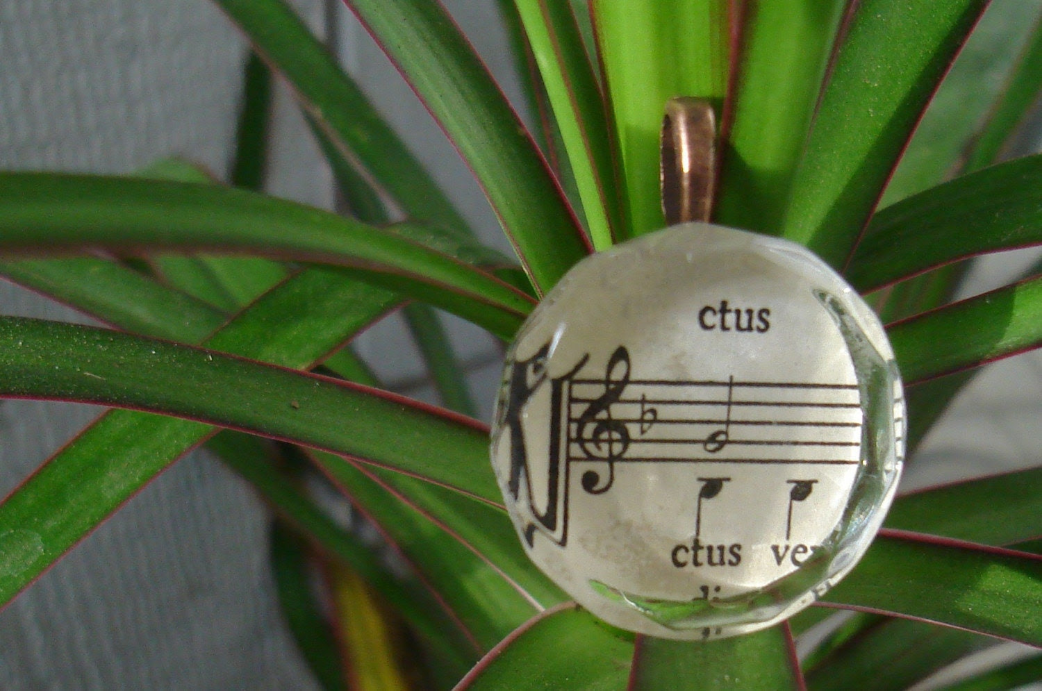 Musical Notes Glass Pendant