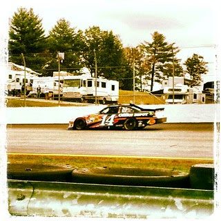 @tonystewart #smoke on track for practice at @nhms #nhms #newhampshire #racing #nascar #chaseforthecup #14