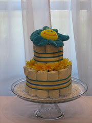 Two Tier Diaper Cake for Boy (front)