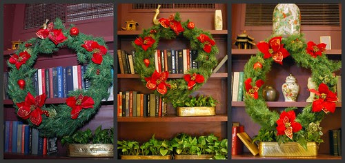 Christmas Wreaths in the Lobby