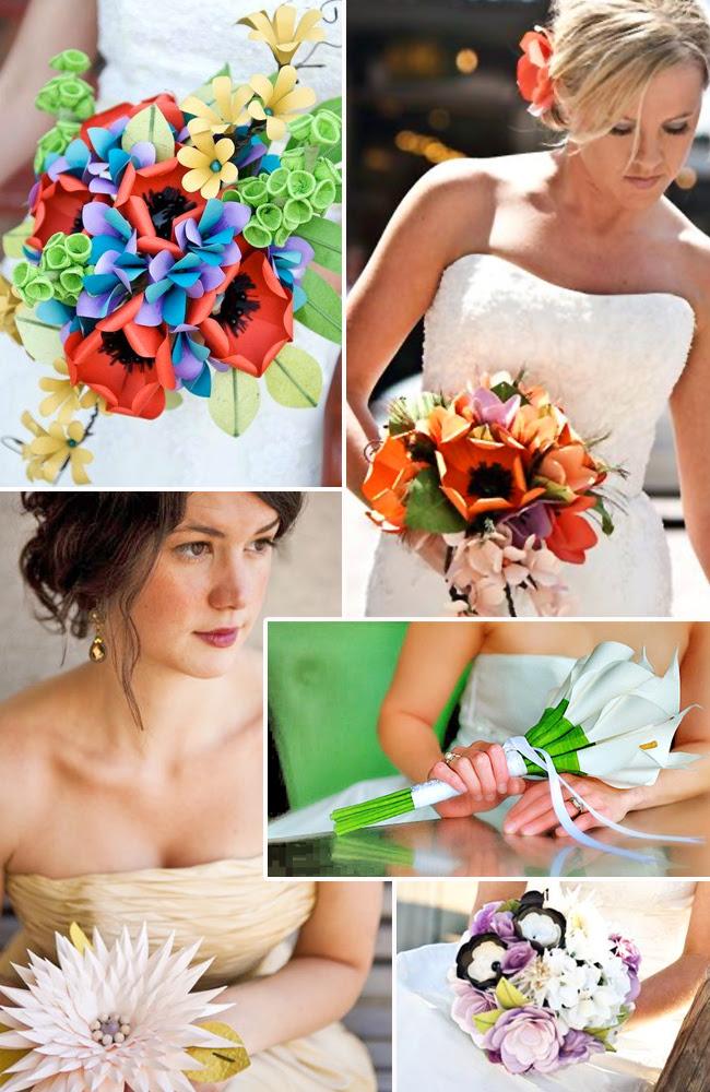 Go Green with Flowerless DIY Wedding Bouquets