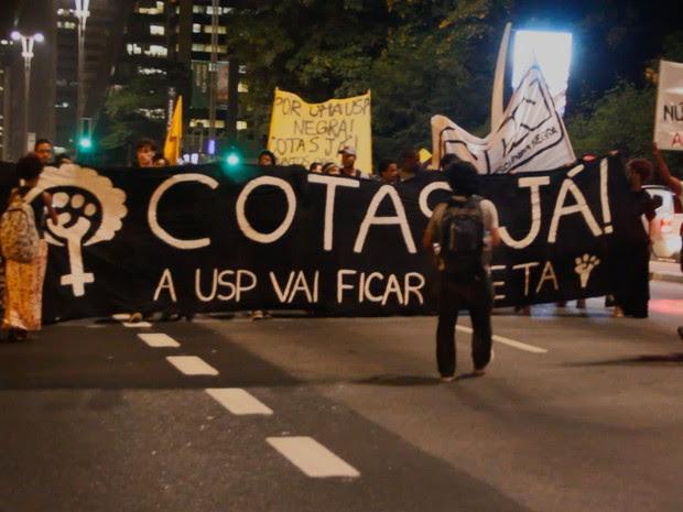 Curta-metragem acompanhou manifestação em favor de cotas raciais (Foto: Divulgação)