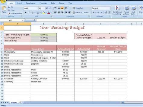 wedding budget templates ideas  pinterest